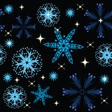 Winter background. With snowflakes. illustration Stock Photo