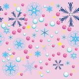 Winter background. With snowflakes. illustration Stock Photography