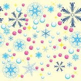 Winter background. With snowflakes. illustration Stock Photos
