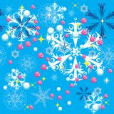 Winter background. With snowflakes. illustration Royalty Free Stock Photos
