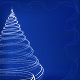 Winter background. With Xmas tree vector illustration