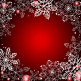 Winter background. In red tones Stock Photography