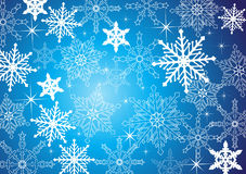 Winter background. With snowflakes in blue royalty free illustration