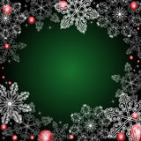 Winter background. With  beautiful  snowflakes Royalty Free Stock Image