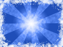 Winter background. Blue and white winter background royalty free illustration