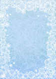 Winter background. Blue winter background with snow stock illustration