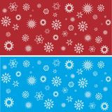 Winter background. A nice red and blue winter background with different stars patterns. Additional format as .eps available Stock Images