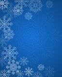 Winter background. Vector winter background with snowflakes Royalty Free Stock Photos