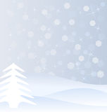 Winter background. Winter white and blue background Stock Photography