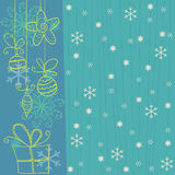 Winter background. Winter  background with snowflakes for cards Royalty Free Stock Photography