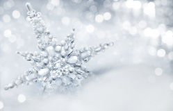 Winter background. With big snowflake royalty free stock images