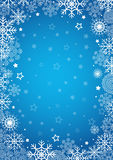 Winter background. Blue winter background. Vector illustration Stock Photography