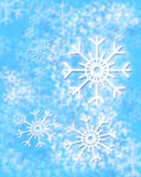 Winter background. With snowflakes, a raster illustration Royalty Free Stock Photos