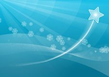 Winter background. Winter wind and star background Royalty Free Stock Images