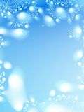 Winter background. Abstract design winter background. Snowballs Stock Image