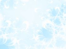 Winter background. Abstract ice flowers. Fractal image Stock Photo