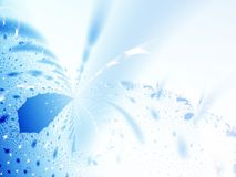 Winter background. Abstract ice flowers. Fractal illustration Royalty Free Stock Photography