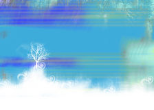 Winter background. Christmas background blank, half finished for print Royalty Free Stock Photography