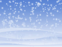 Winter background. Some trees silhouettes Royalty Free Stock Image