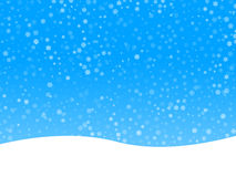Winter background. With many snowflakes Stock Photography