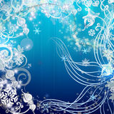 Winter background. Beautiful festive illustratin with sparkles and snowflakes Stock Images
