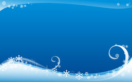 Winter background. Abstract winter background with snowflakes Stock Image