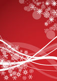 Winter background. Winter holidays design,useful as background for Christmas greetings cards and similar purposes. Proportions based on international paper size royalty free illustration