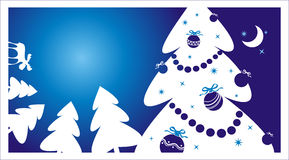 Winter background. With christmas tree Stock Image