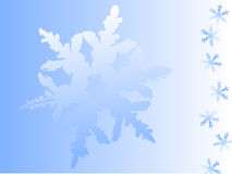 Winter Background. An abstract winter background in blue color with snowflakes Stock Images