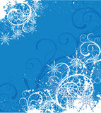 Winter background. Blue christmas background with snowflakes Royalty Free Stock Images