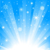 Winter background. Blue Background with a winter theme to it vector illustration