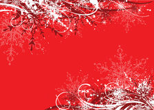 Winter background. Grunge winter background in red palette royalty free illustration