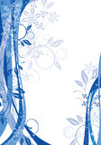 Winter background. Abstract winter background in blue palette royalty free illustration