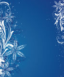Winter background. Blue christmas background with snowflakes Stock Photography