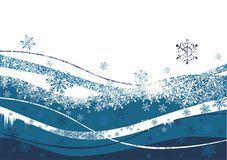 Winter background. Christmas- winter background with snowflakes Royalty Free Stock Image
