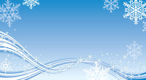 Winter background. Blue Winter background with stylish snowflakes Stock Photos