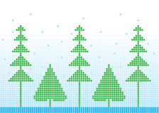 Winter Background. Mosaic winter background, vector illustration Royalty Free Illustration