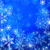 Winter background. Blue winter background with a lot of snowflakes vector illustration