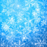 Winter background. Blue winter background with a lot of snowflakes stock illustration