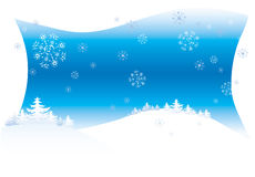 Winter background. With snowflakes Stock Images