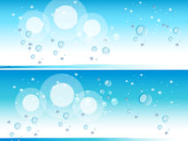 Winter background. Two winter background and bubbles Royalty Free Stock Photo