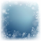 Winter background. Winter Abstract blue Snowflake Background. Vector illustration Stock Photos