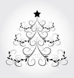 Winter Background with Abstract Christmas tree Stock Image