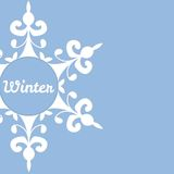 Winter background with abstract snowflake. Stock Photography