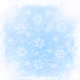 Winter view from snowy window Royalty Free Stock Photo