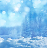 Winter background. Beautiful winter background with snow Stock Photo
