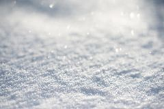 Winter background. With beautiful various snowflakes Royalty Free Stock Photography