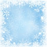 Winter background with beautiful various snowflakes Royalty Free Stock Photos