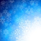 Winter background with beautiful various snowflakes Royalty Free Stock Photo