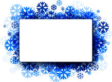 Winter background with blue snowflakes. Stock Photography